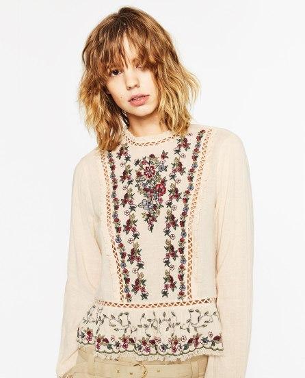 Blusa Folhos Zara 39,95€